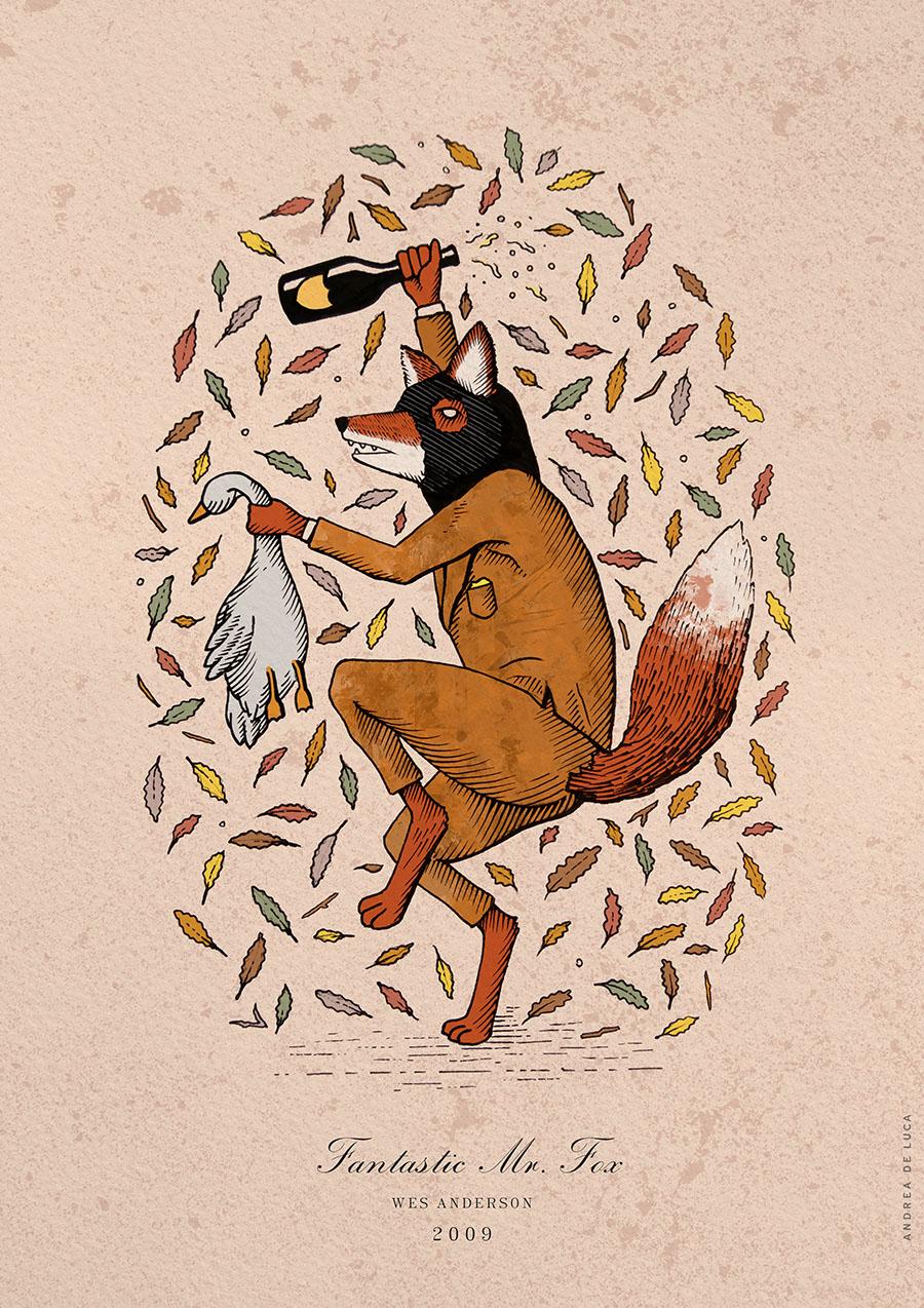 Fantastic Mr Fox Illustration Andrea De Luca